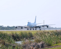Shuttle Carrier Aircraft (SCA) touches down at the Shuttle Landing Facility (SLF) on 4/10/12